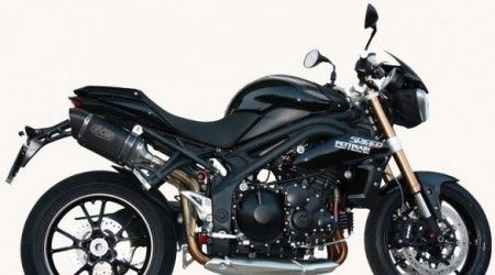 Accessori: scarichi Exan X-Black per Triumph Speed Triple 1050