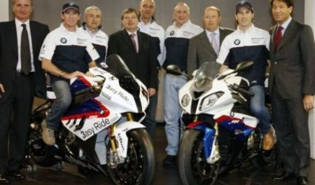 Il team BMW in Superbike
