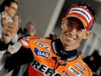 Motogp Qatar: Stoner in pole