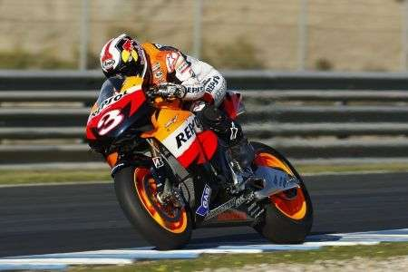 Pedrosa Test Jerez Day 2