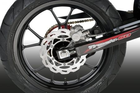 Beta RR 50 Motard Track m.y. 2012: il forcellone