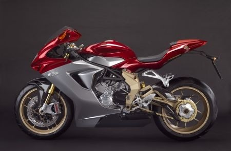 MV Agusta F3 Serie Oro: una seconda vista laterale