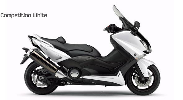 Yamaha T-Max 2012 colorazione competition white