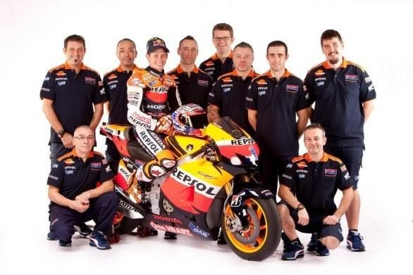 Honda RC213V, il team