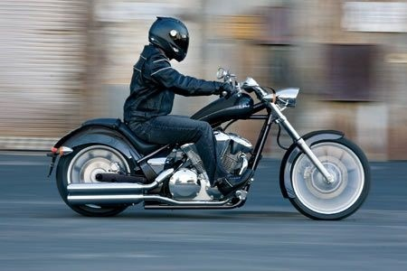 Honda VT1300CX on the road